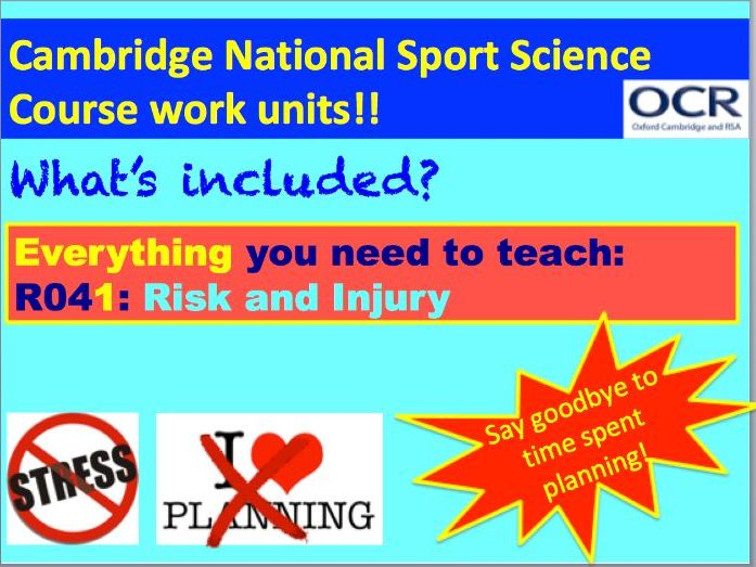 Cambridge National Sports Science R041: Reducing Risk and Injury