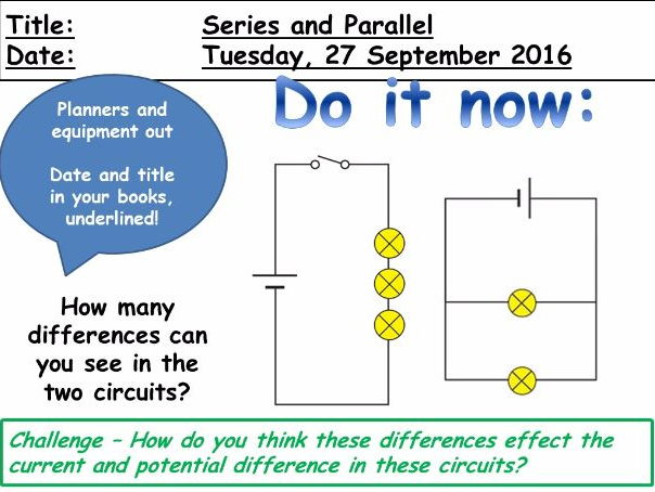 series and parallel circuits ks3 by mrbphysics teaching rh tes com Schematic Circuit Diagram Simple Circuit Diagrams