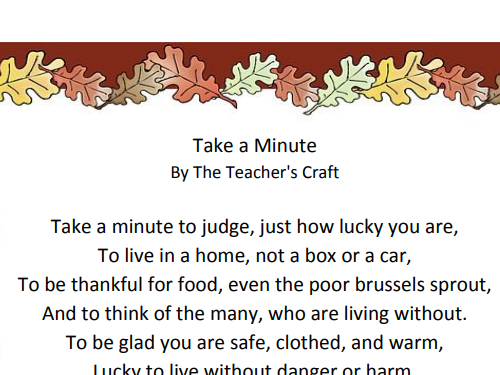 Thanksgiving Poem and Rhyming Couplet Activities