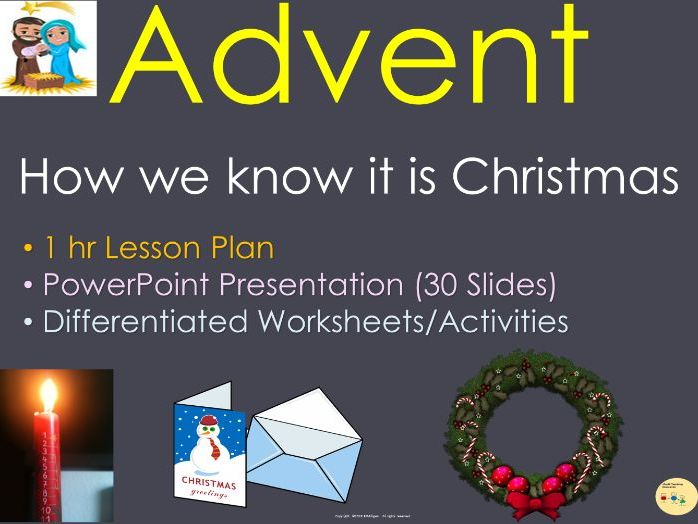 Advent PowerPoint Presentation Lesson Plan Worksheet Activities Word Search