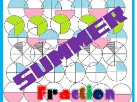 Summer Fraction Task Cards