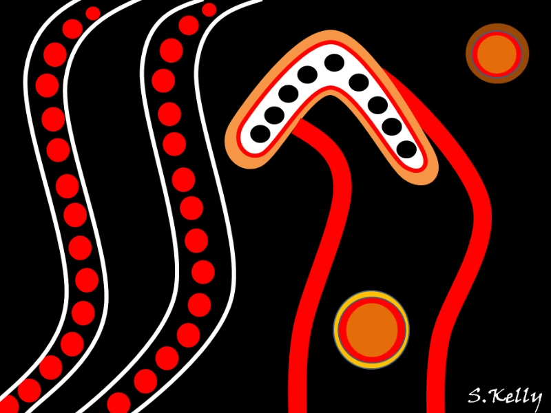 Creating an Australian Aboriginal style 'Dot' painting in Microsoft Word