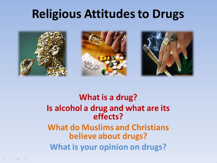 Religious Attitudes to Alcohol and Drugs