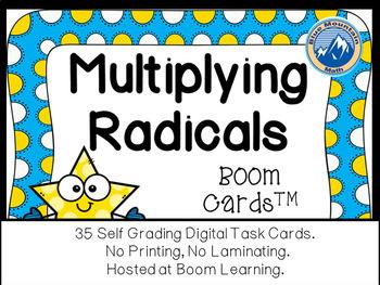 Mulitplying Radicals Boom Cards--Digital Task Cards