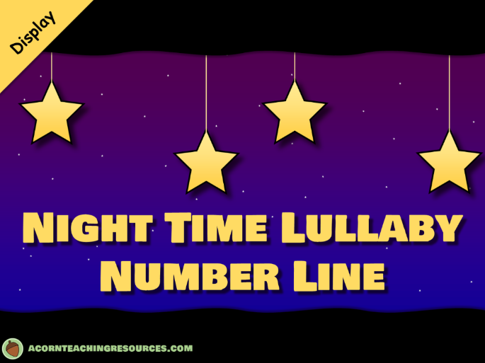 Night time lullaby number line