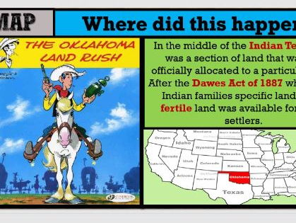 Lesson 20b GCSE Edexcel 1-9 American West - Continued settlement: The Oklahoma Land Rush