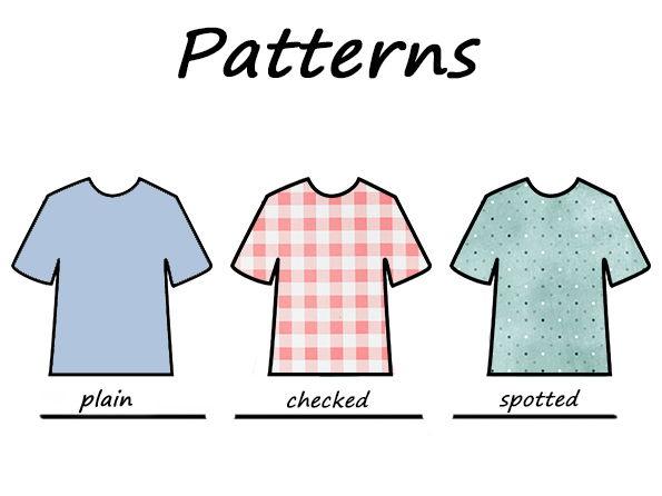 Patterns / draw, match and write