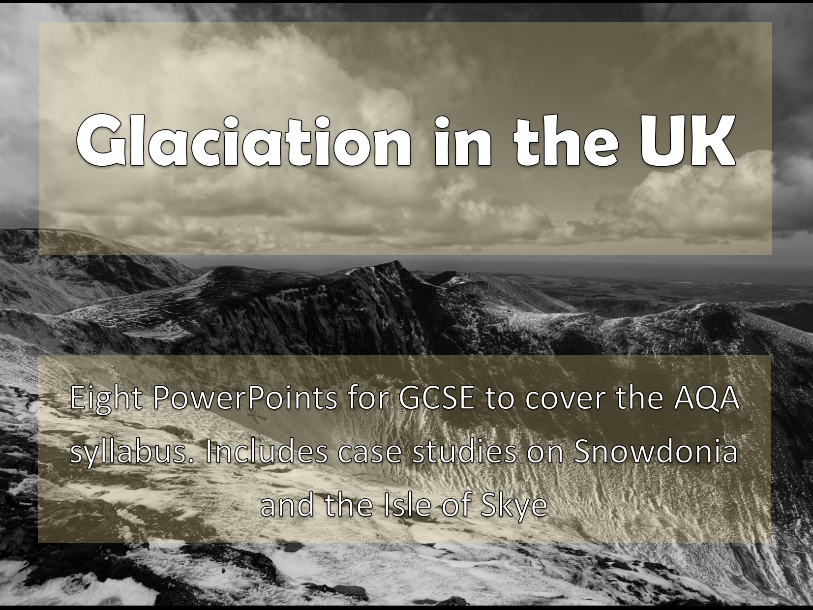 Glaciation in the UK