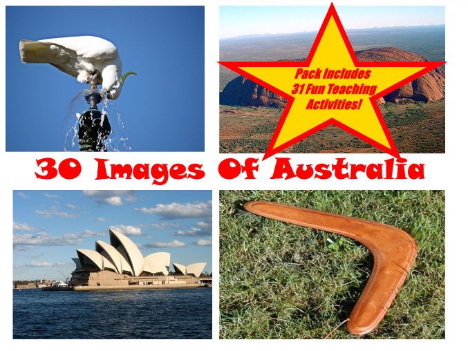 30 Australian Photos And Images PowerPoint Presentation + 31 Activity Teaching Teacher Guide