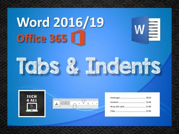 Tabs & Indents in Microsoft Word: