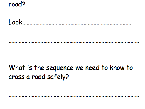 Road Safety Comprehension Questions