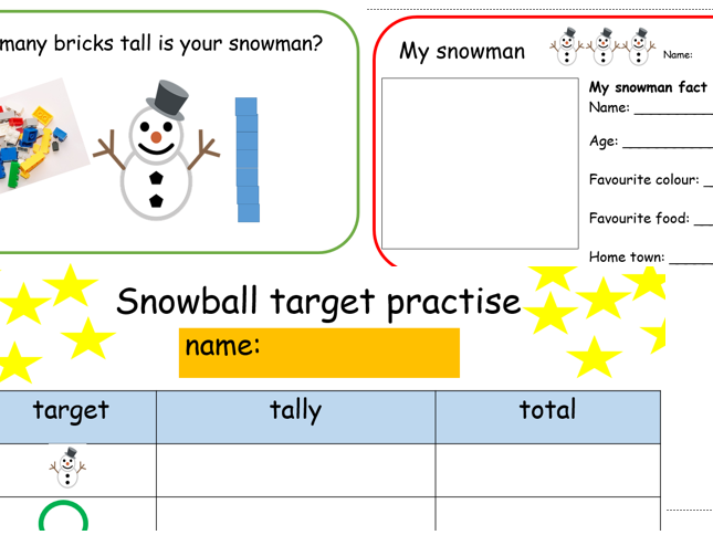 Snow Day challenges- differentiated maths, writing literacy, science and planning winter remote
