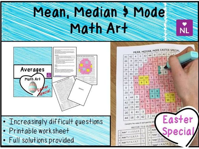 Averages (Math Art- Easter Special) by NumberLoving - Teaching ...