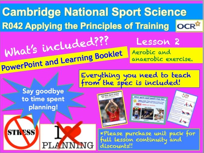 Cambridge National Sports Science R042: Aerobic and Anaerobic Exercise