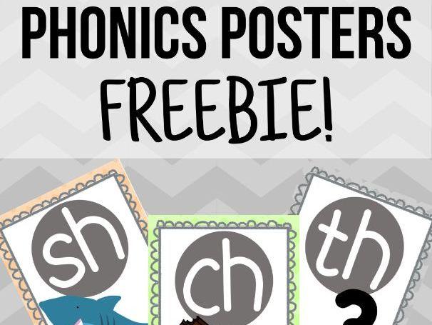 FREE Pastel Phonics Posters