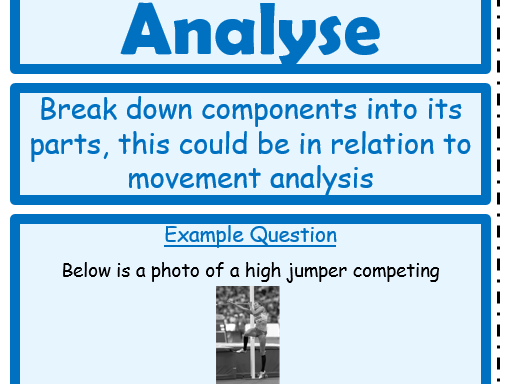 GCSE PE NEW SPEC - Revision, Command Word Cards