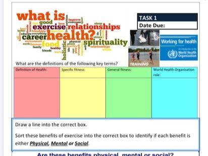 AQA GCSE PE ILT1 - Health & Fitness