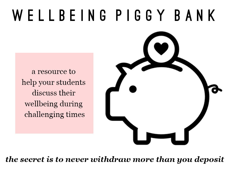 Wellbeing Piggy Bank : Personal Tutor Resources