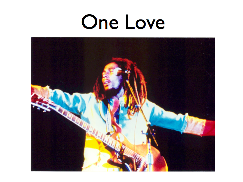 MUSIC KS3 SINGING LESSON BOB MARLEY ONE LOVE *mac users only*