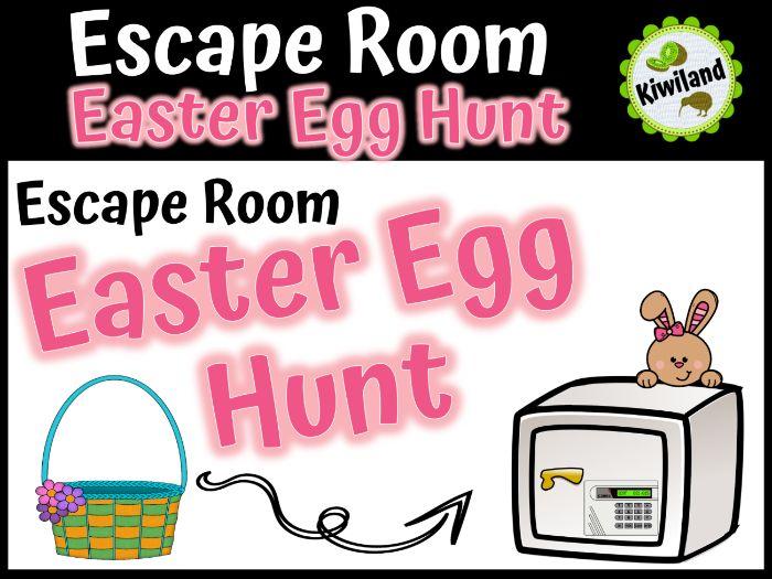 Escape Room: Easter Egg Hunt Math Mystery (Spring)
