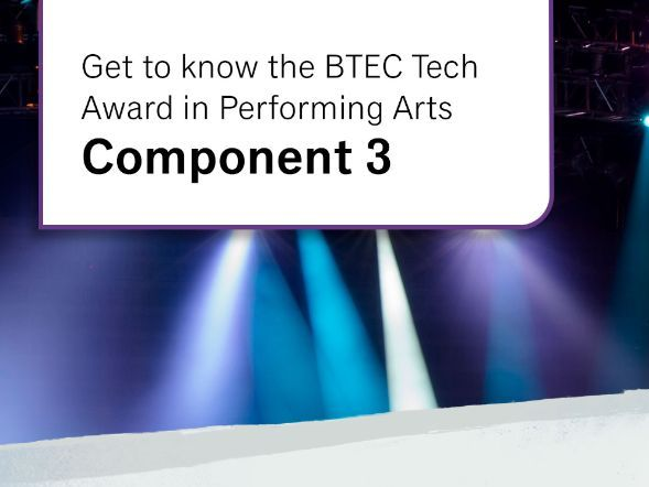 Actor's Logbook: Component 2 - BTEC Level 1/Level 2 Tech Award in Performing Arts: Acting