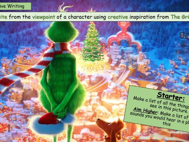 The Grinch Christmas Descriptive Writing