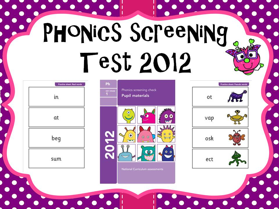 2012 Phonics screening