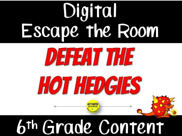 Digital Escape the Room for 6th Grade Review