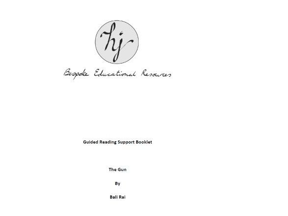 The Gun Guided Reading Pupil Booklet