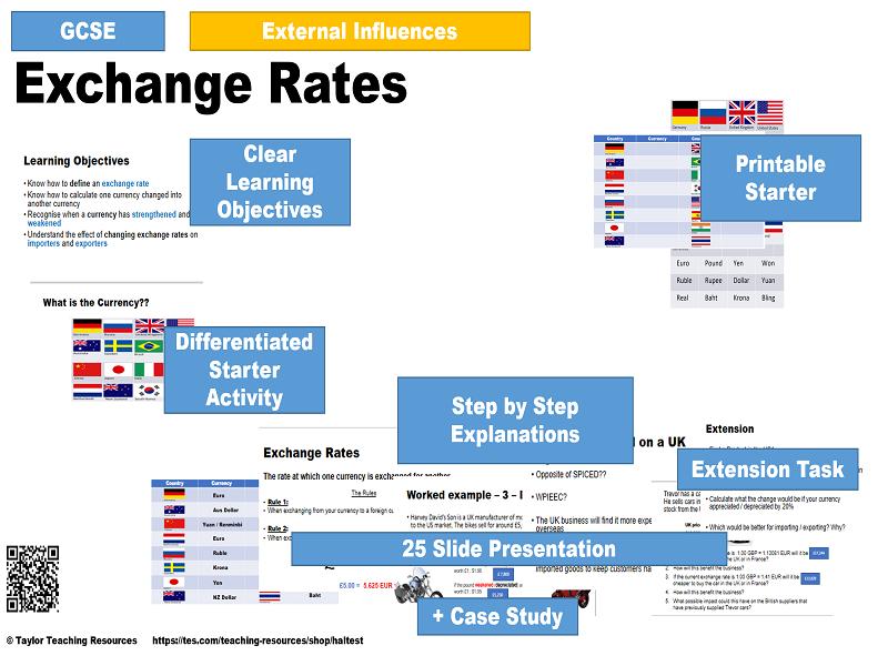 Exchange Rates - GCSE / iGCSE Business