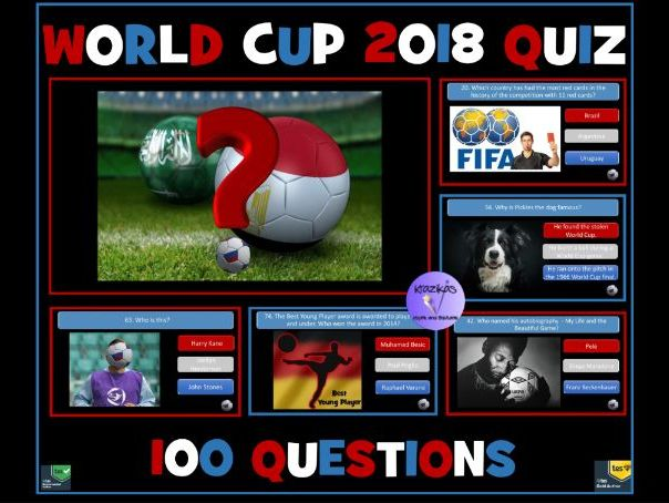 Football World Cup 2018:  100 Question PowerPoint Quiz