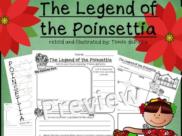 The Legend of the Poinsettia Activity Sheets *Print and Go!*