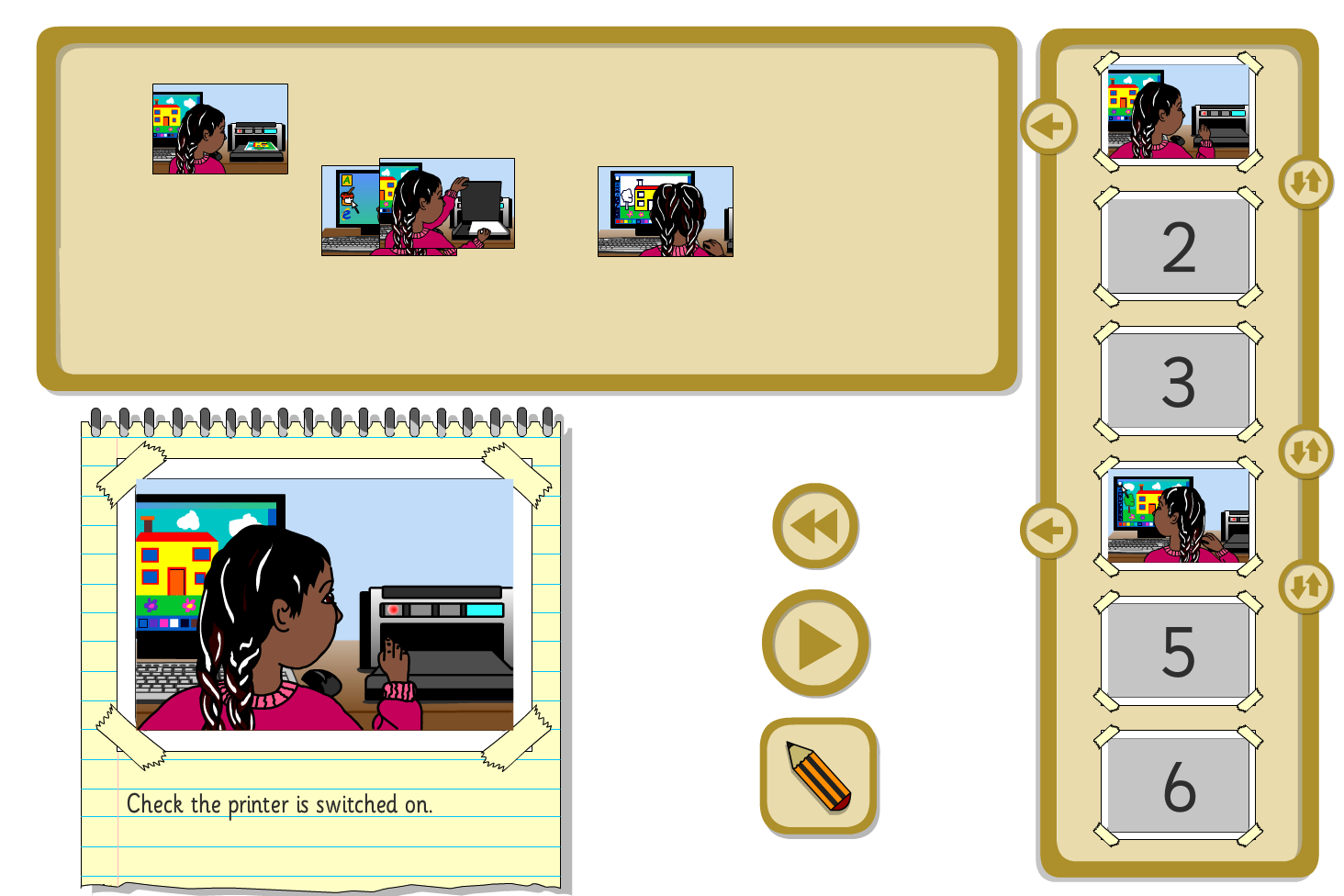 Interactive Sequencer - Making a Picture on the Computer - KS1 Literacy