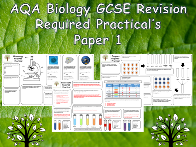 Biology Required Practicals -  GCSE Biology Trilogy Paper 1 Revision  with answers