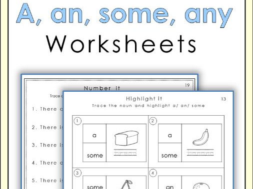 A, an, some, any worksheets