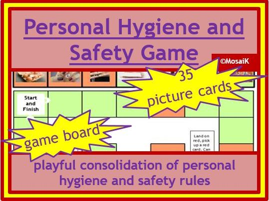 Food tech: personal hygiene and safety game, incl. game board and 35 cards