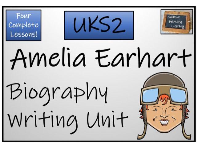 UKS2 Amelia Earhart Biography Writing Activity
