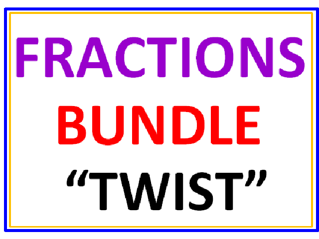 Fractions BUNDLE TWIST 12 Worksheets