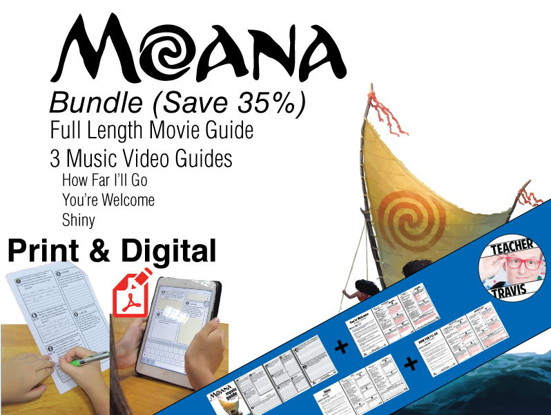 Moana Movie Guide & Music Video Guide Bundle