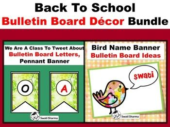 Bird/Spring Theme, Back To School, Bulletin Board Decor Bundle