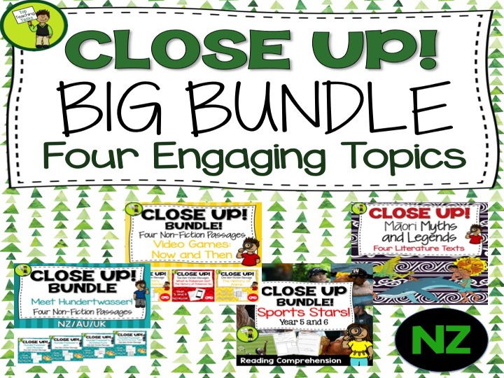 Close Up BIG BUNDLE - Reading Comprehension Texts with Higher Order Thinking
