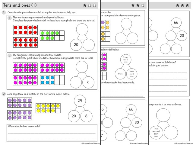 YEAR 2 - Place value - White Rose - WEEK 1 - Block 1 - Autumn -  TENS & ONES (1) ( FREE )