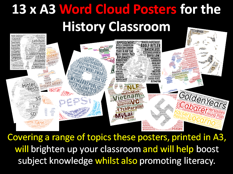 Literacy Clouds for the History Classroom (x13)
