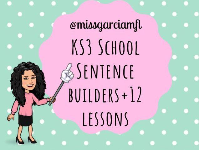 School Spanish (sentence builders + lessons)
