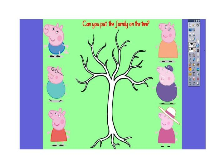 Family Tree Flip Chart (Peppa Pig)