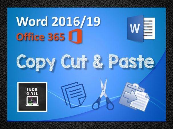 Copy Cut & Paste in Microsoft Word