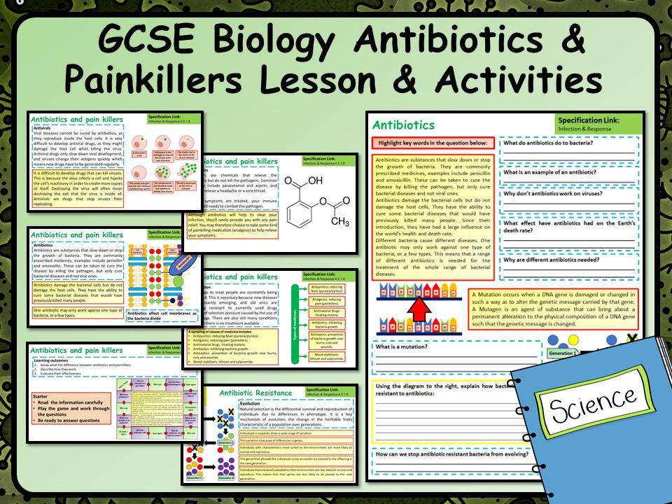 KS4 AQA GCSE Biology (Science) Antibiotics & Painkillers Lesson