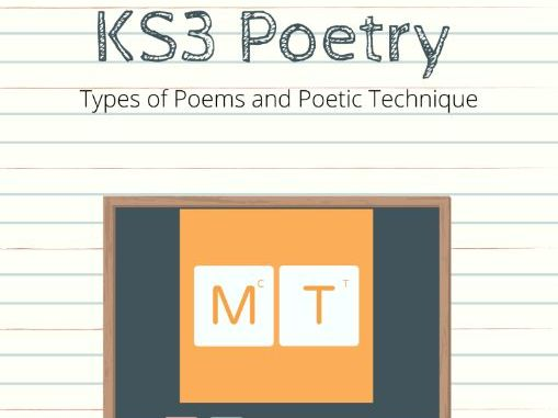 KS3 Poetry Introduction Types of Poems