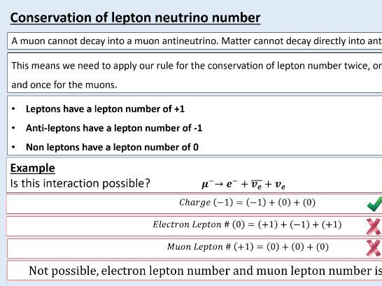 A level Physics (2.3) Leptons at work (Particles physics quarks and leptons)