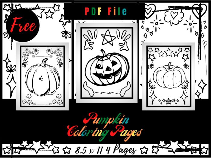 FREE Pumpkin Colouring Pages For Kids, Halloween Printable Colouring Sheets PDF